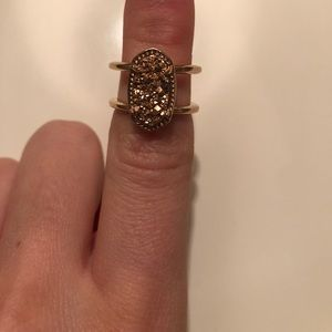 Kendra Scott rose gold drusy ring size 7